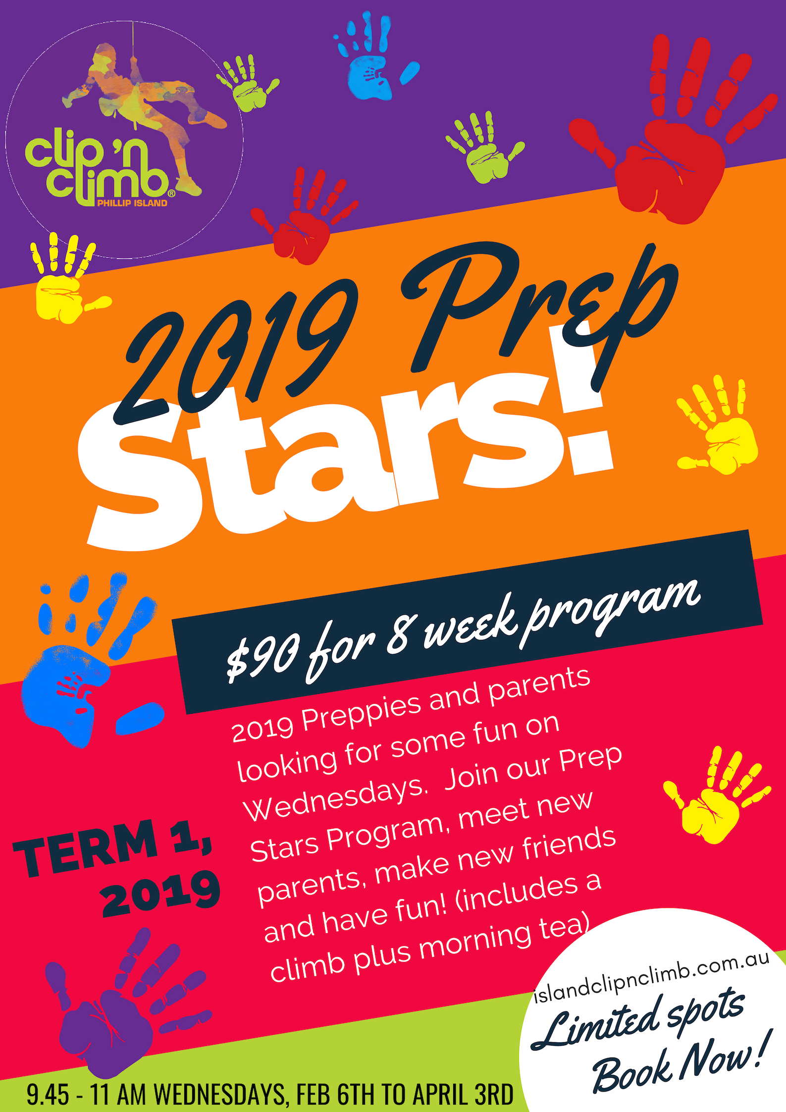 Colourful Hand prints preppie 2019 Poster - Programs and Classes